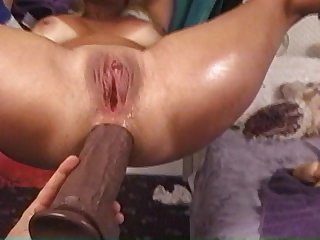 Mature Blonde slut in sling stuffed with..