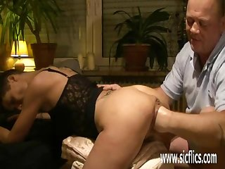 Fisting the wifes huge greedy pussy
