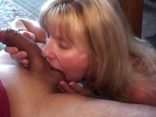 Mature Blonde Sucks and Swallows Her..
