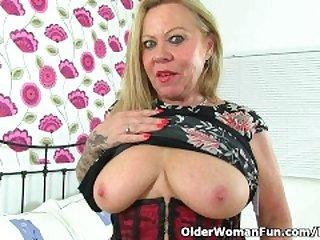 British granny Camilla feels sexy in..