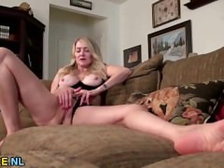 Big titted American mature lady..