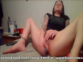 Cheating Married Milf Dildo Fucks Her..