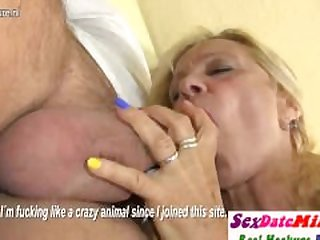 German Granny Fucking and Sucking Young..