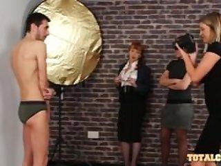 Male Model Seduced By Three