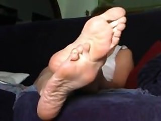 Sexy, big mature feet