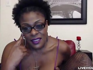 Ebony old mistress Laveaux with a fat..