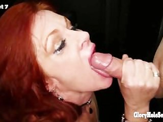 Gloryhole Secrets mature redhead..