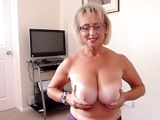 Huge Tits Mature Blowing Camera man POV..