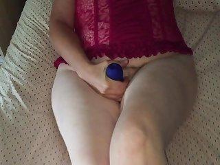 Sexy Mormon wife vibrator and cock fuck