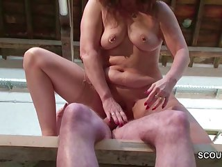 German MILF Mom in Stockings Seduce to..