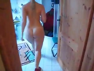 Huge ass wife running naked in house