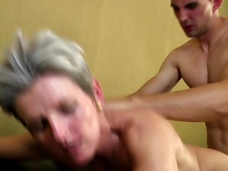 Mature moms bang young not their sons