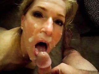 40+ wife facialized