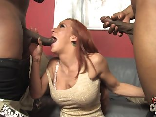 Mature busty mom take black cocks in all..