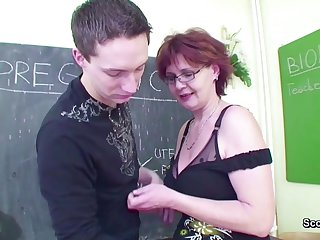 Female Sex Teacher Seduce Young Boy to..