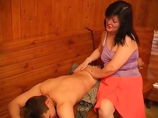 Mature Adila fucks with her young lover