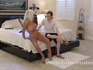 Sexy Sally D'Angelo finds a big dick on..