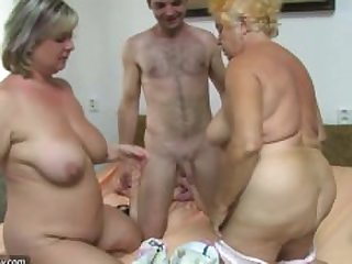 Very old chubby granny fucking with..