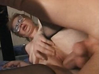 granny old woman fucked by young guy man..