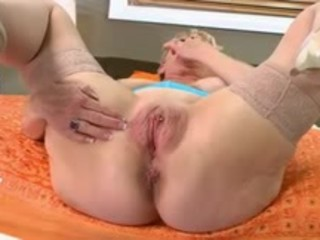 Granny takes and eats the creampie