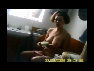 More big tits voyeur capture on toilet