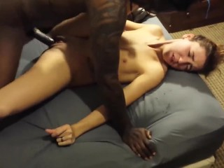 CUTE WIFE IN ECSTASY WITH HER FIRST BBC
