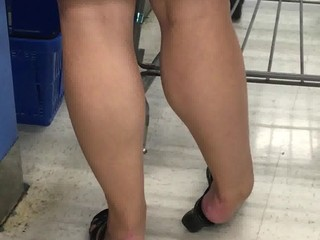 Candid legs and calves