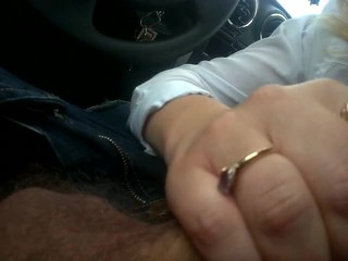 Suck from Mature in Car