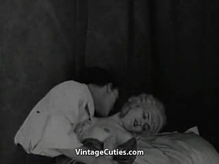 Young Girl Sneaks Boy into Room (1920s..