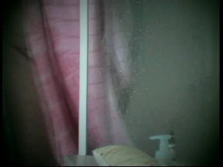 Visiting friend L showers hidden cam