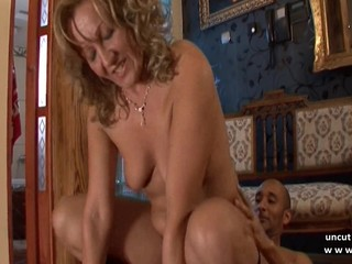 Naughty milf cougar maman hard analyzed..